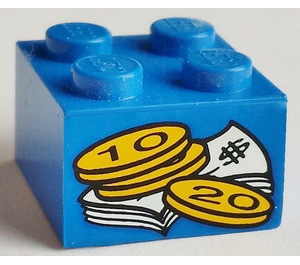 LEGO Brick 2 x 2 with Sticker from Set 4165 (6223)