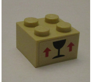 LEGO Brick 2 x 2 with Sticker from Set 7997 (3003)