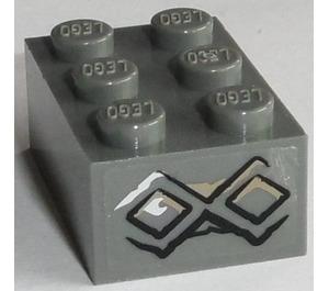 LEGO Brick 2 x 3 with 2 Runes Sticker from Set 9473 (3002)
