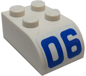 LEGO Brick 2 x 3 with Curved Top with '06' Sticker (6215)