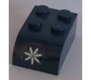 LEGO Brick 2 x 3 with Curved Top with Snowflake pattern Sticker (6215)
