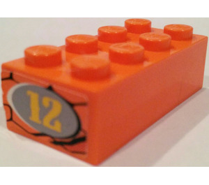 LEGO Brick 2 x 3 with Sticker from Set 8158 (3002)