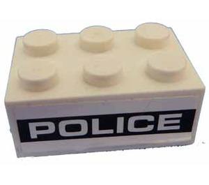 LEGO Brick 2 x 3 with Sticker from Set 8186 (3002)