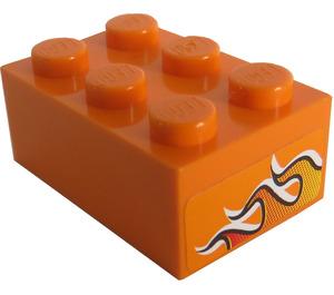 LEGO Brick 2 x 3 with Sticker from Set 8641 (3002)
