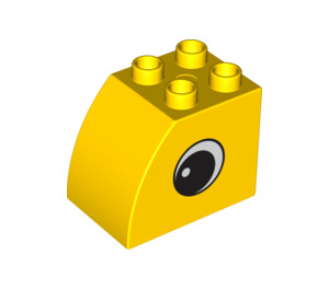 LEGO Brick 2 x 3 x 2 with Curved Side with Eye on Both Sides (12711 / 12712)