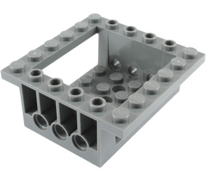 LEGO Brick 6 x 6 x 2 with 4 x 4 Cutout and 3 Pin Holes each End (47507)