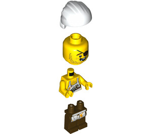 LEGO Brick Bounty Cook Minifigure