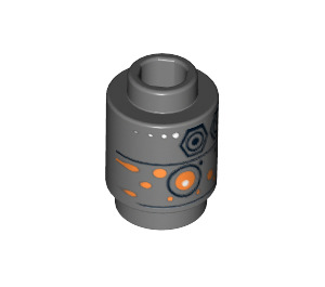 LEGO Brick Round 1 x 1 with Decoration with Open Stud (97505)