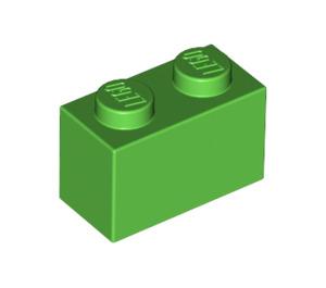LEGO Bright Green Brick 1 x 2 (3004)