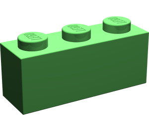 LEGO Bright Green Brick 1 x 3 (3622)