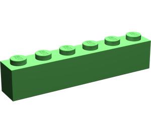 LEGO Bright Green Brick 1 x 6 (3009)