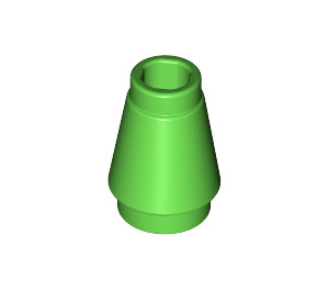LEGO Bright Green Cone 1 x 1 with Top Groove (59900)