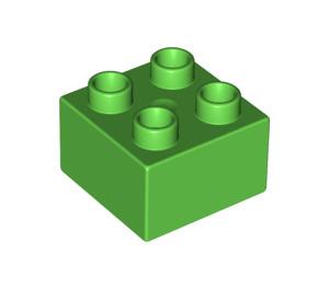 LEGO Bright Green Duplo Brick 2 x 2 (3437 / 89461)