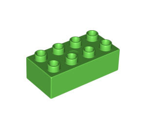 LEGO Bright Green Duplo Brick 2 x 4 (3011 / 31459)