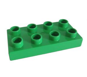 LEGO Bright Green Duplo Plate 2 x 4 (40666)