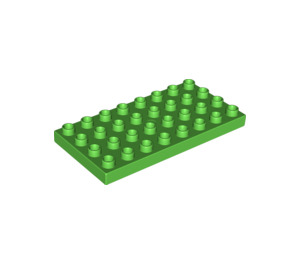 LEGO Bright Green Duplo Plate 4 x 8 (4672 / 10199)