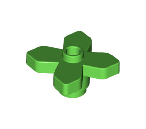 LEGO Bright Green Flower 2 x 2 with Angular Leaves (4727)