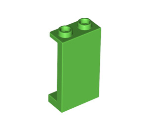 LEGO Bright Green Panel 1 x 2 x 3 with Side Supports - Hollow Studs (87544)