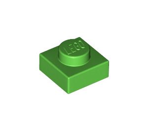 LEGO Bright Green Plate 1 x 1 (3024)