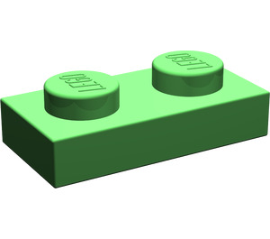 LEGO Bright Green Plate 1 x 2 (3023)