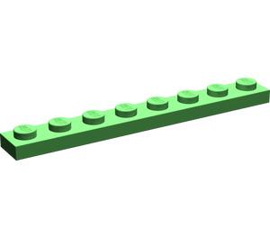 LEGO Bright Green Plate 1 x 8 (3460)