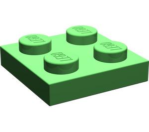 LEGO Bright Green Plate 2 x 2 (3022)