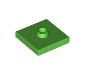 LEGO Bright Green Plate 2 x 2 with Groove and 1 Center Stud (87580)