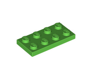 LEGO Bright Green Plate 2 x 4 (3020)