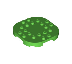 LEGO Bright Green Plate 6 x 6 x 2/3 Circle with Reduced Knobs (66789)