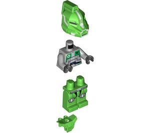 LEGO Bright Green Robot Sidekick with Armor Minifigure