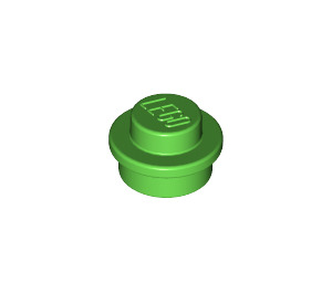 LEGO Bright Green Round Plate 1 x 1 (6141)