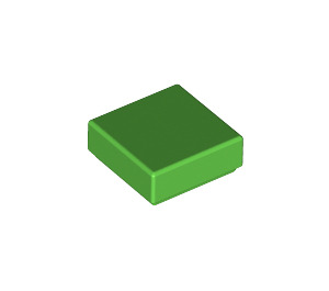 LEGO Bright Green Tile 1 x 1 with Groove (3070)