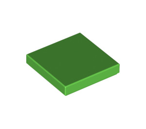 LEGO Bright Green Tile 2 x 2 with Groove (3068)
