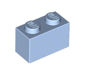 LEGO Bright Light Blue Brick 1 x 2 (3004)