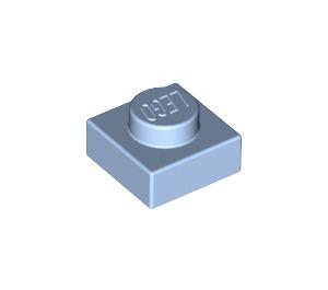 LEGO Bright Light Blue Plate 1 x 1 (3024)