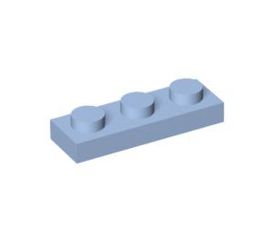 LEGO Bright Light Blue Plate 1 x 3 (3623)