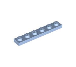 LEGO Bright Light Blue Plate 1 x 6 (3666)