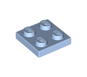 LEGO Bright Light Blue Plate 2 x 2 (3022)
