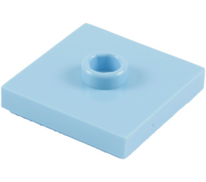 LEGO Bright Light Blue Plate 2 x 2 with Groove and 1 Center Stud (87580)