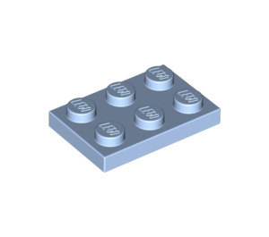 LEGO Bright Light Blue Plate 2 x 3 (3021)