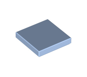 LEGO Bright Light Blue Tile 2 x 2 with Groove (3068)