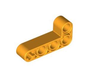LEGO Bright Light Orange Beam 2 x 4 Bent 90 Degrees, 2 and 4 holes (32140)