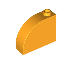 LEGO Bright Light Orange Brick 1 x 3 x 2 Curved Top (33243)
