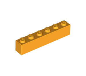 LEGO Bright Light Orange Brick 1 x 6 (3009)