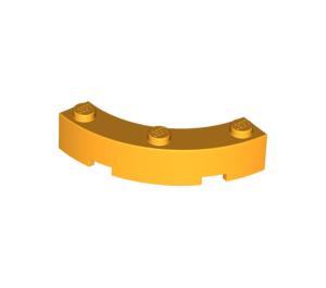 LEGO Bright Light Orange Brick Corner 4 x 4 (Wide with 3 Studs) (48092)