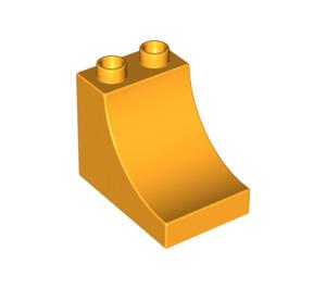 LEGO Bright Light Orange Duplo Brick 2 x 3 x 2 with Curved Ramp (2301)