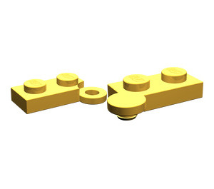 LEGO Bright Light Orange Hinge Plate 1 x 4