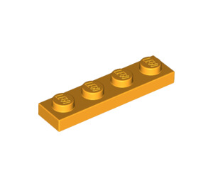 LEGO Bright Light Orange Plate 1 x 4 (3710)