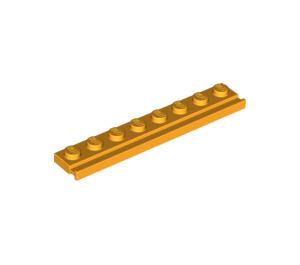 LEGO Bright Light Orange Plate 1 x 8 with Door Rail (4510)