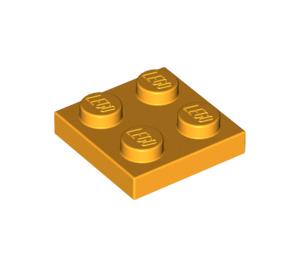 LEGO Bright Light Orange Plate 2 x 2 (3022)